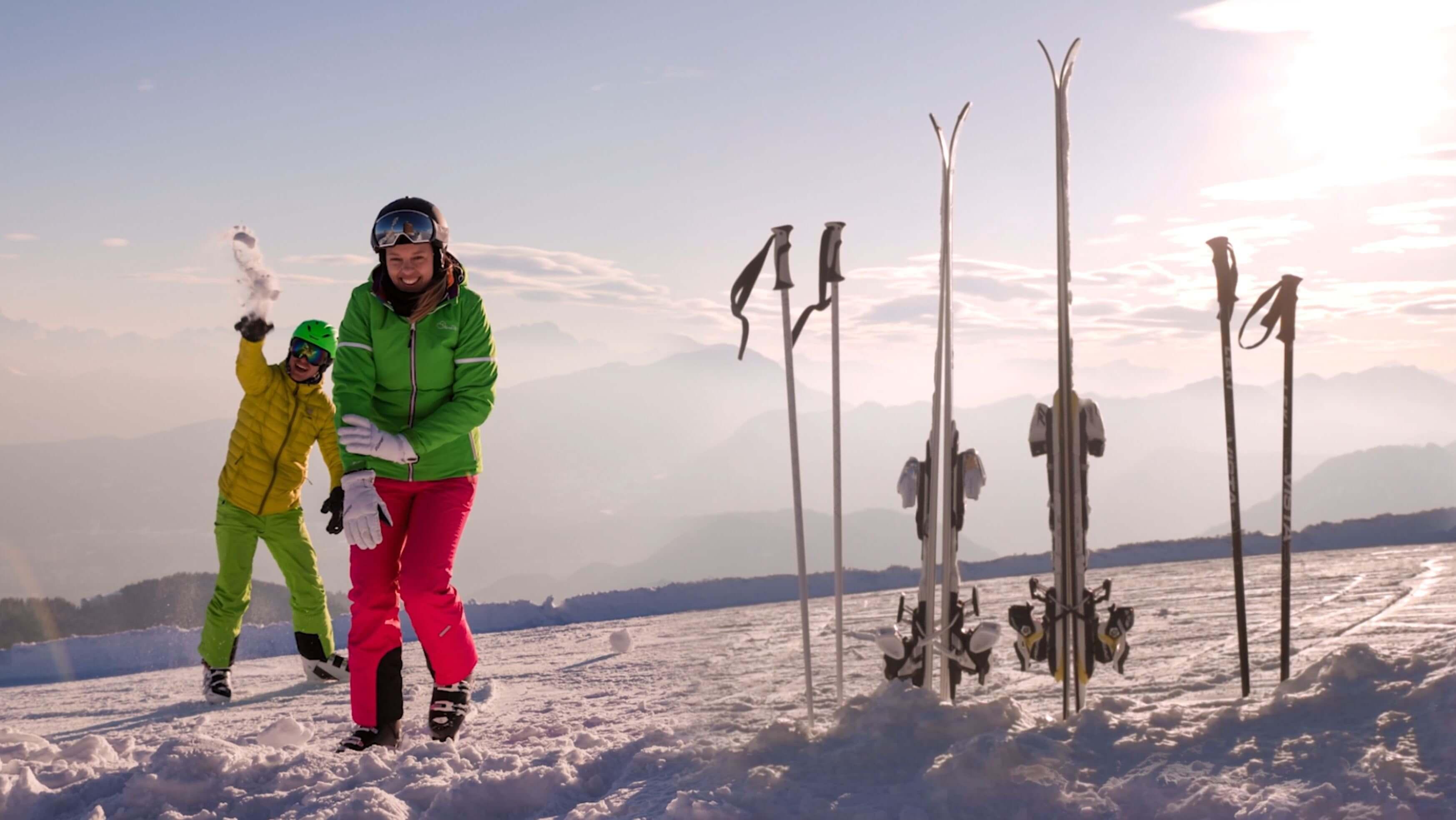 Fototgraf Urlaub in Kärnten beim Skifahren im Skiurlaub in Österreich