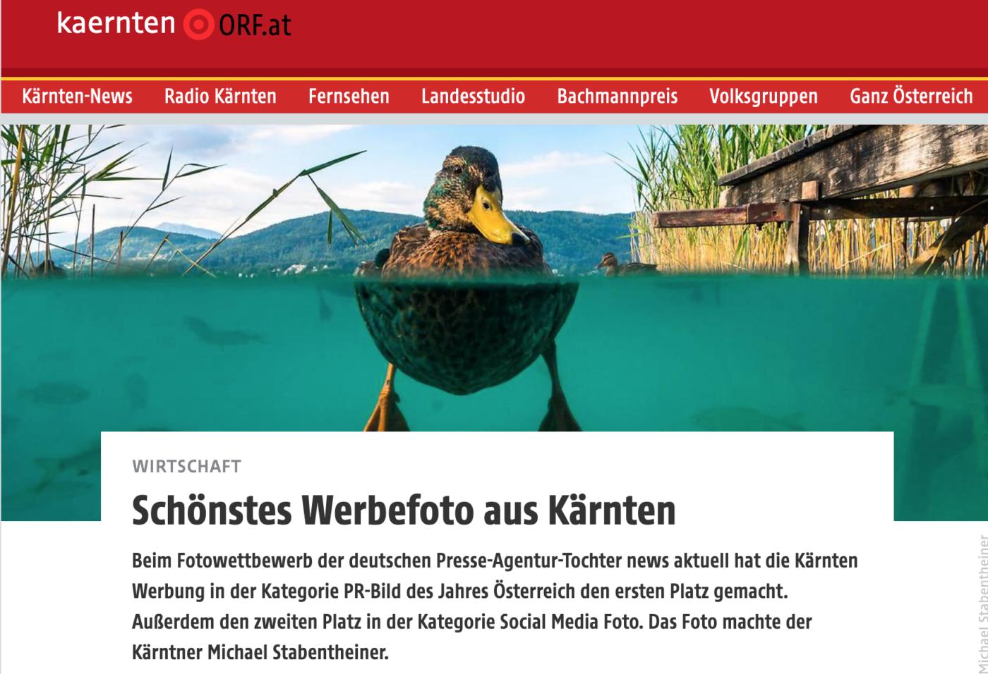 Berichterstattung zum PR Bild Award im ORF